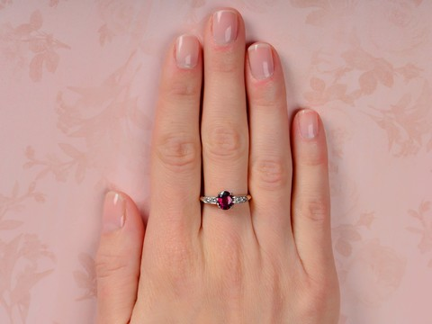 Royale - Ruby Diamond Engagement Ring