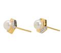 Classic Cultured Pearl Diamond Earrings