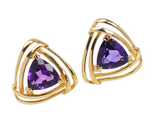 Striking Estate Amethyst Stud Earrings