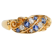 Antique Sapphire Diamond Ring of 1902