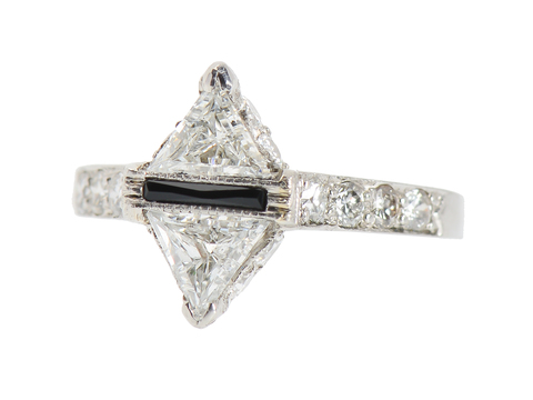 One-of-a-Kind Diamond Onyx Ring