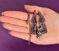 Art Nouveau Plique à Jour Swan Necklace