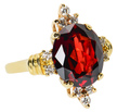 Echo of the Past Garnet Diamond Ring