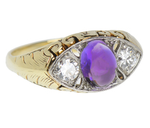 Adore - Vintage Amethyst Diamond Ring