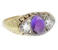 Adore - Vintage Amethyst Diamond Ring