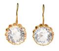Vintage Russian Rock Crystal Earrings 7 Carats