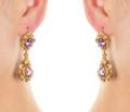 Inspired Georgian Pink Topaz Earrings