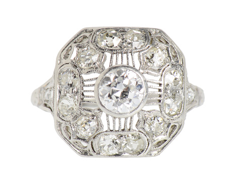 Edwardian Perfection in a Diamond Ring
