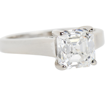 Estate Asscher D Color Diamond Ring