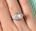 Oval Diamond Estate Cluster Ring
