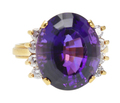 Luscious Amethyst Diamond Cocktail Ring
