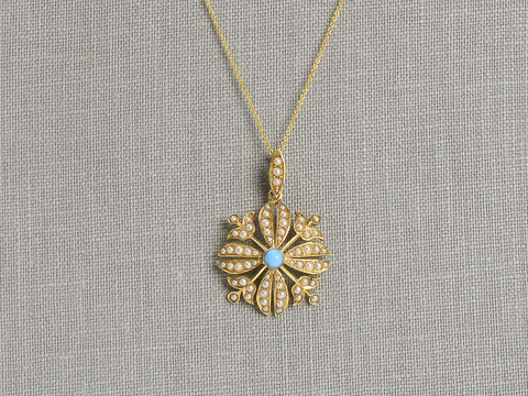 Edwardian Delicacy in a Pearl Pendant