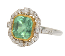 Sensation Estate Emerald Diamond Ring