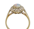 Vintage 1930s Opal Halo Ring