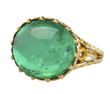 Hypnotic Columbian Emerald Estate Ring of 10.75 C