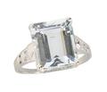 Art Deco Vintage Filigree Aquamarine Ring