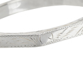 Vintage Octagonal Patterned Sterling Silver Bangle