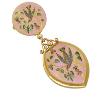 Flight of Fancy - French Enamel Locket