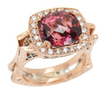 Signed Dallas Prince Eugenio Tourmaline Ring