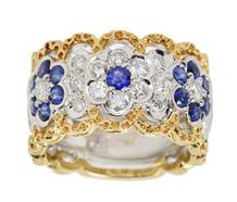 Bridal Bouquet – Diamond Sapphire Band