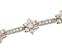 Estate Diamond Stars Bracelet