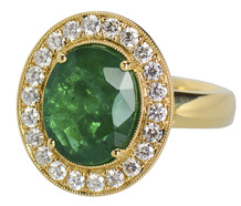 Green Goddess – Emerald Diamond Ring