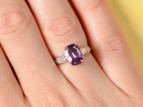 Mid Century Spinel Diamond Ring