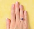 Mid Century Spinel Diamond Ring