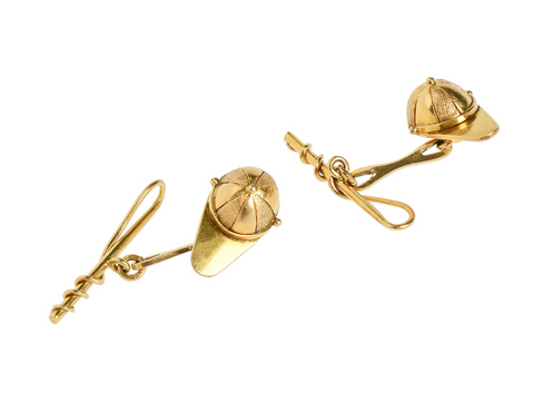 Antique Sporting Jockey Cufflinks