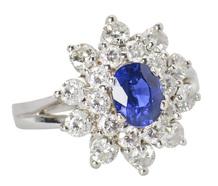 Standout Sapphire Diamond Halo Ring