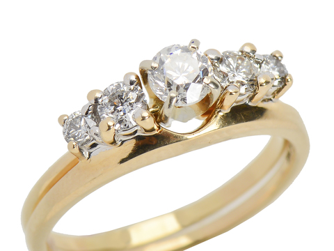 Classic Diamond Wedding Set 1.05 C.