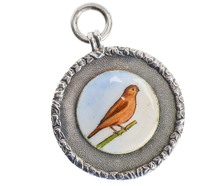 For the Birds – Edwardian Silver Pendant