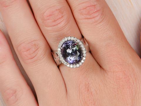 Dallas Prince UnHeated Tanzanite Ring