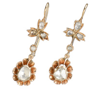 Vintage Rose Cut Diamond Earrings