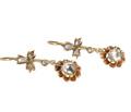 Vintage Rose Cut Diamond Earrings