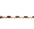 Rich Retro Garnet Link Bracelet