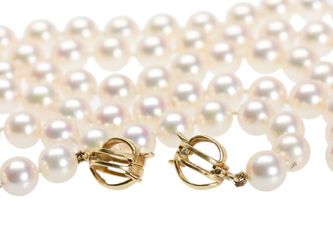 Gem Quality Cultured Pearl Necklace