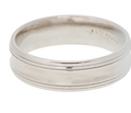 ArtCarved Man's Palladium Estate Wedding Ring