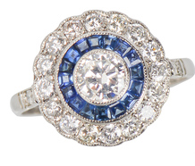 Halo Heaven - Sapphire Diamond Engagement Ring
