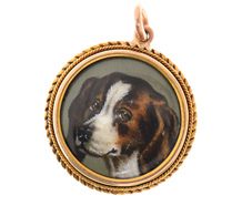 Victorian Portrait Miniature of Dog
