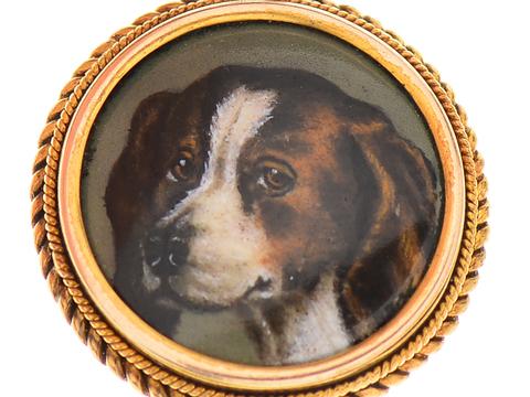 Victorian Portrait Miniature of Dog