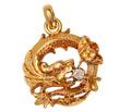 Art Nouveau Dragon Diamond Pendant