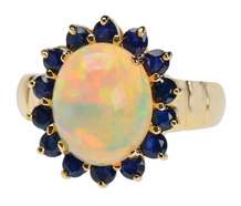 Knockout - Opal Sapphire Cluster Ring