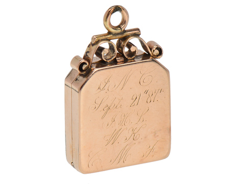 Come Fly with Me Swallow Locket of 1887
