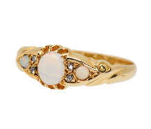 Antique Opal Diamond Ring of 1916