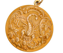 Antique Scorpio Zodiac Pendant Sloan & Co.