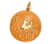 Taurus Zodiac Antique Pendant by Sloan & Co.