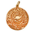 Vintage Zodiac Sign Cancer Locket & Chain