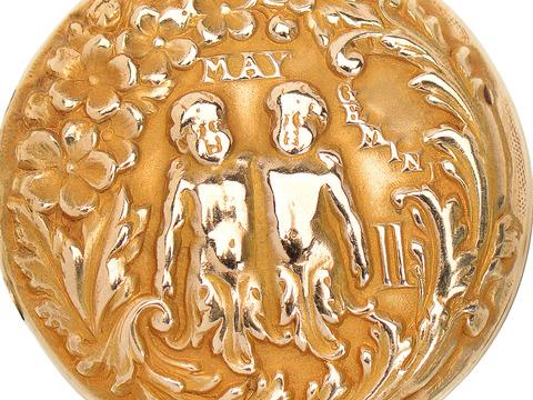 1920's Sloan & Co. Gemini Zodiac Pendant