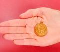 Antique Art Nouveau Pisces Zodiac Gold Pendant